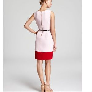Kate Spade Red Tiff Color Block Dress Pink Balloon